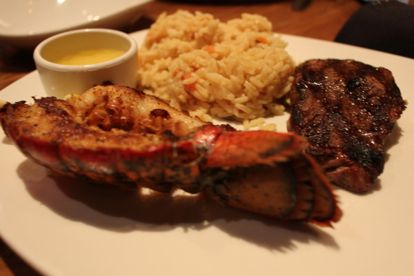 Outback Steakhouse Sirloin Filet and Lobster Tail with Seasoned Rice