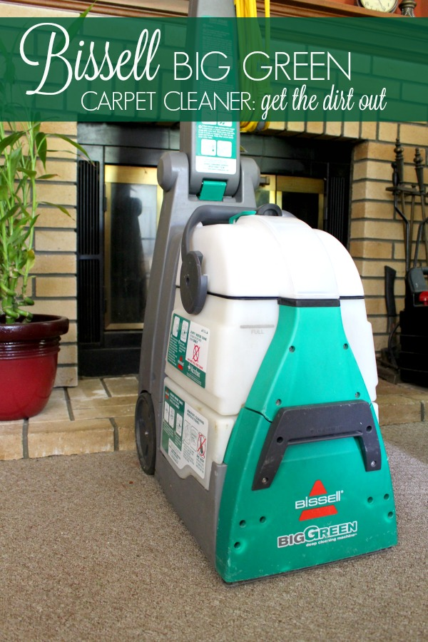 bissell big green carpet cleaner get the dirt out