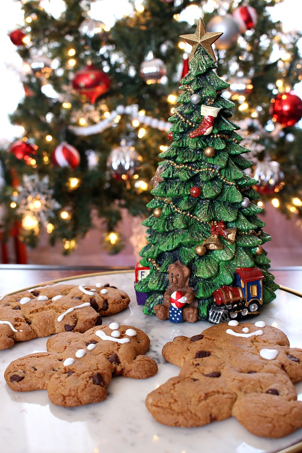 Immaculate Chocolate Chip Gingerbread Man Cookies