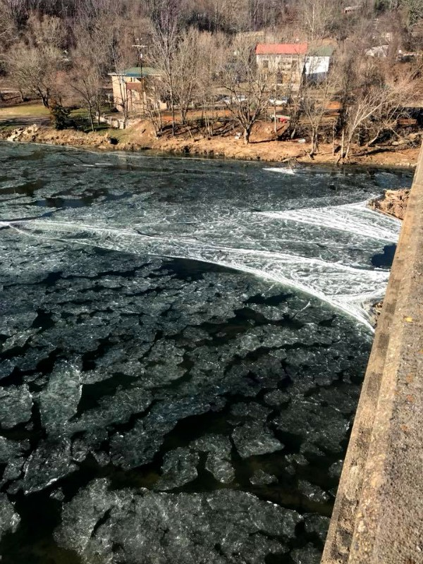 French Broad River: Frozen in Time